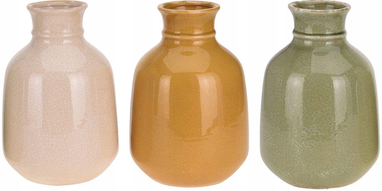 Keramická váza v retro štýle (žltá)