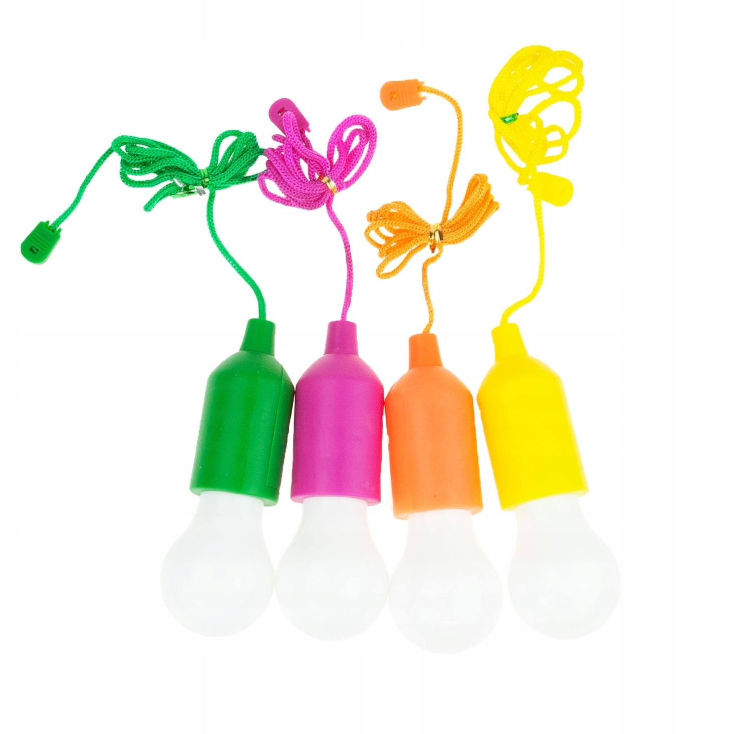 Lampki LED Sznurku Baterie kolorowe Żarówka 4szt