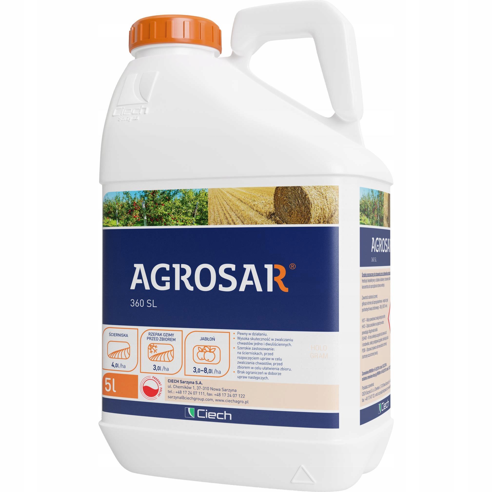 Agrosar 360sl 5l сильный для сильных макс пролежевок