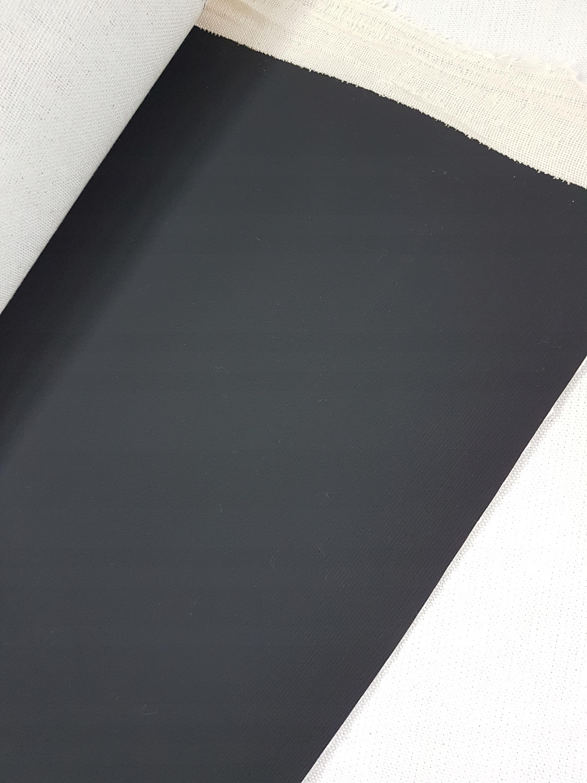 Черная грунтованная хлопковая канва 210 см на метр