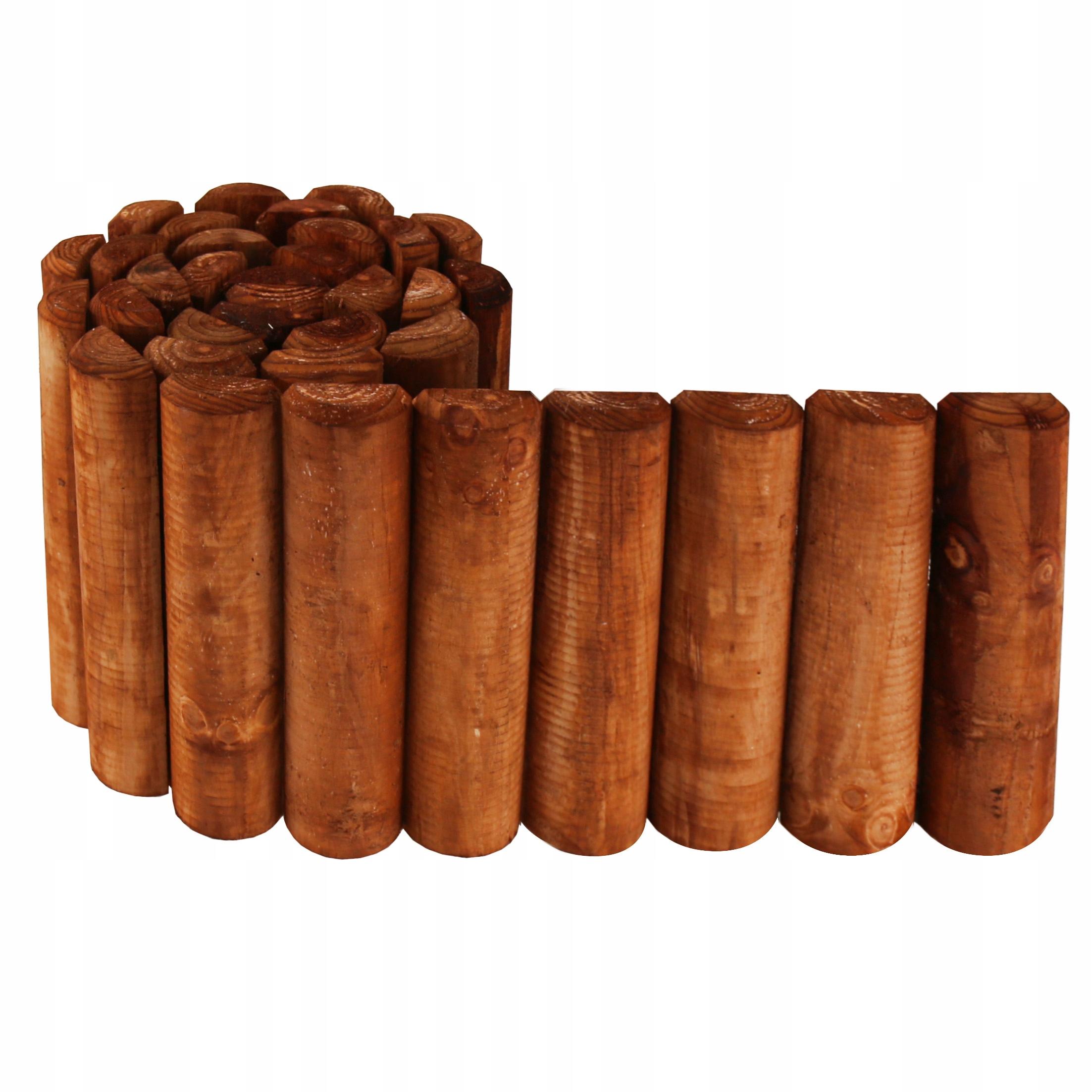 Rollborder drewniany obrzeże palisada płotek