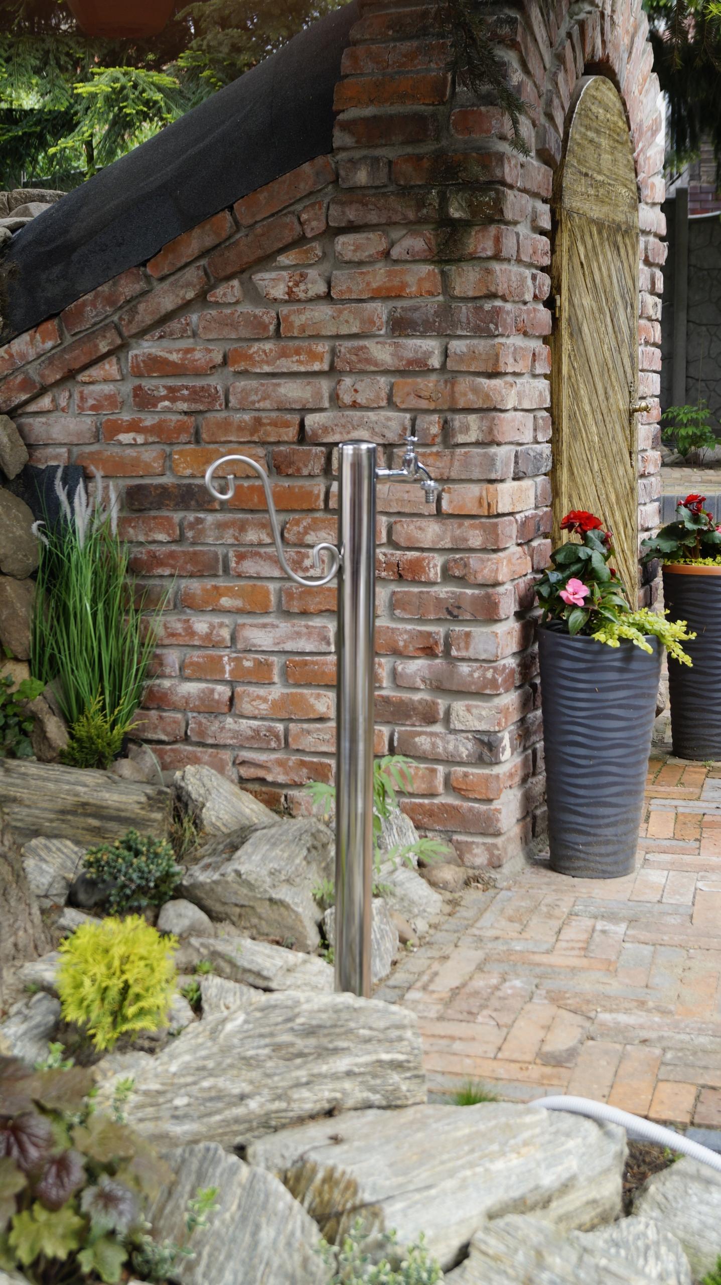 Kran Ogrodowy hydrant 100cm INOX kranik słupek Waga produktu z opakowaniem jednostkowym 4 kg