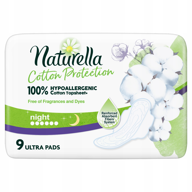 Naturella Cotton Protection Ultra Night Прокладки 9