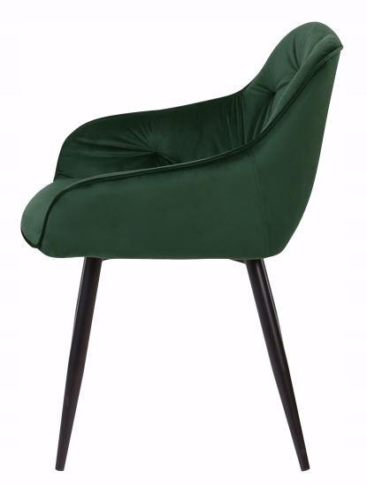 Krzesło tapicerowane Loren dark green Rodzaj nóg Proste
