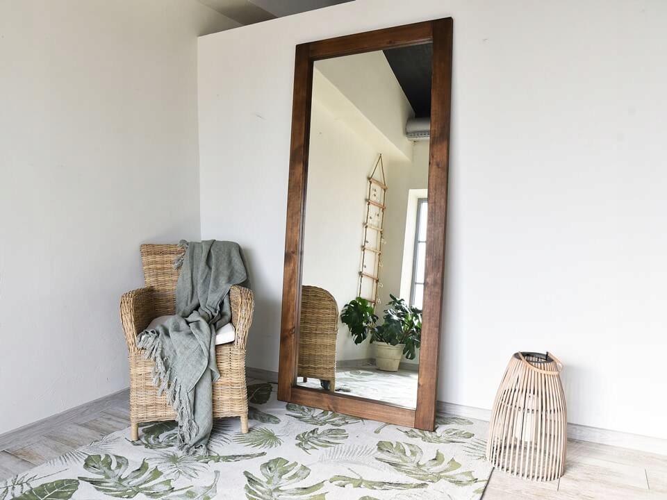 Zrkadlo v Drevenom Ramenný 88x200 RUSTIKÁLNY RETRO