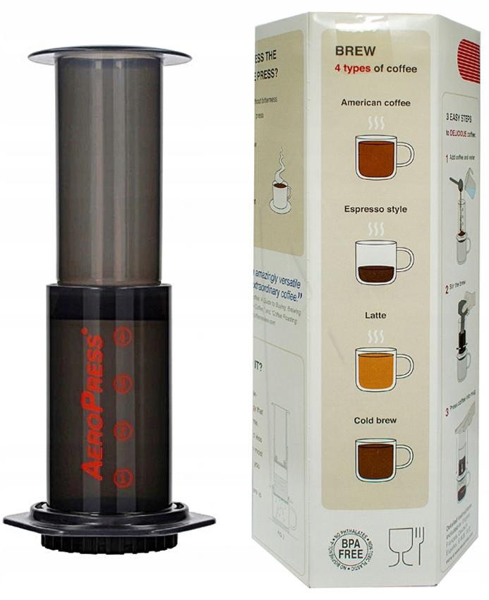 Aeropress AEROBIE - zaparzacz do kawy z filtrami Materiał tworzywo sztuczne
