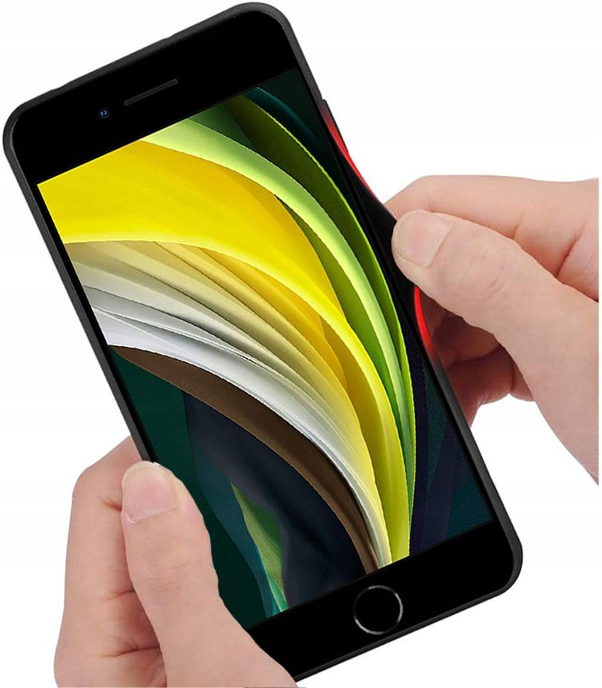 Etui do iPhone 7 8 SE 2020 Case Glass + Szkło 9H Producent 3Tel