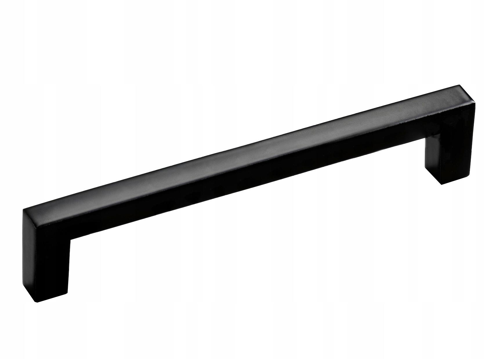 UCHWYT MEBLOWY KWADRATOWY CZARNY MAT 128mm