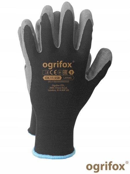 Rękawice ochronne robocze Ogrifox Ox Lateks BS10