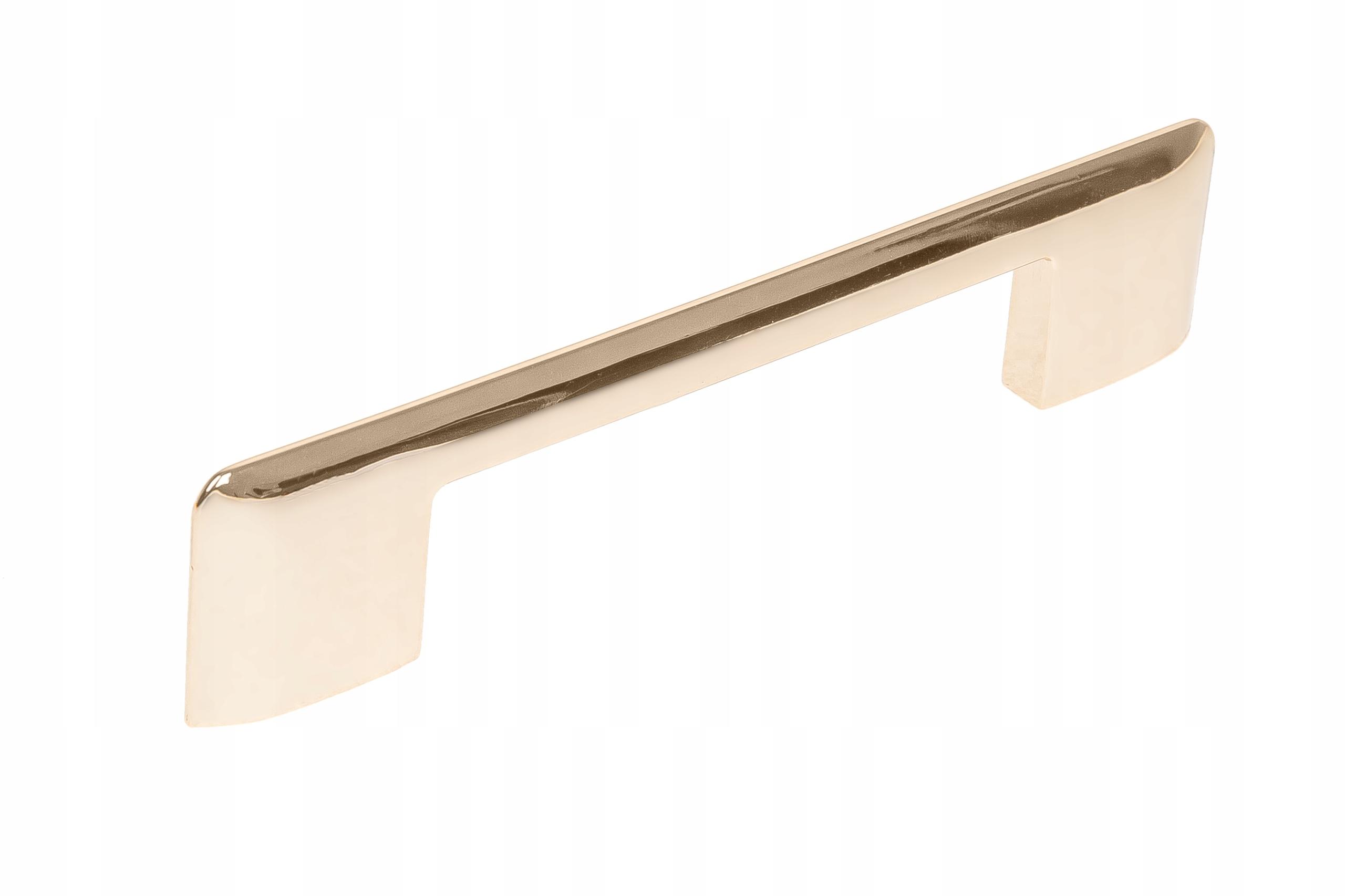 Ручка мебельная RENO блестящее золото 96 + 128 мм