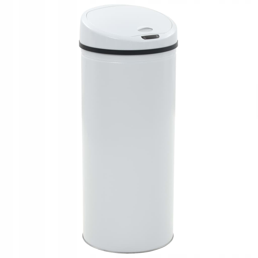 Odpadkový kôš so senzorom, 62 L, biely