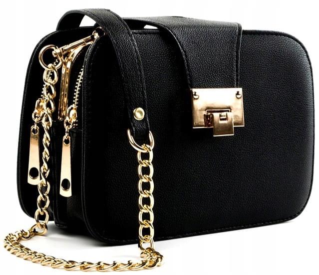Элегантная женская сумка CASE Черная кожа