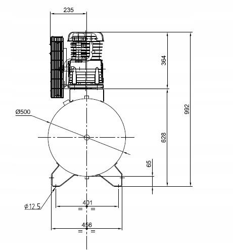 SPRĘŻARKA KOMPRESOR 300L ATLAS COPCO AC 40 E 300 T Napięcie zasilania 400 V