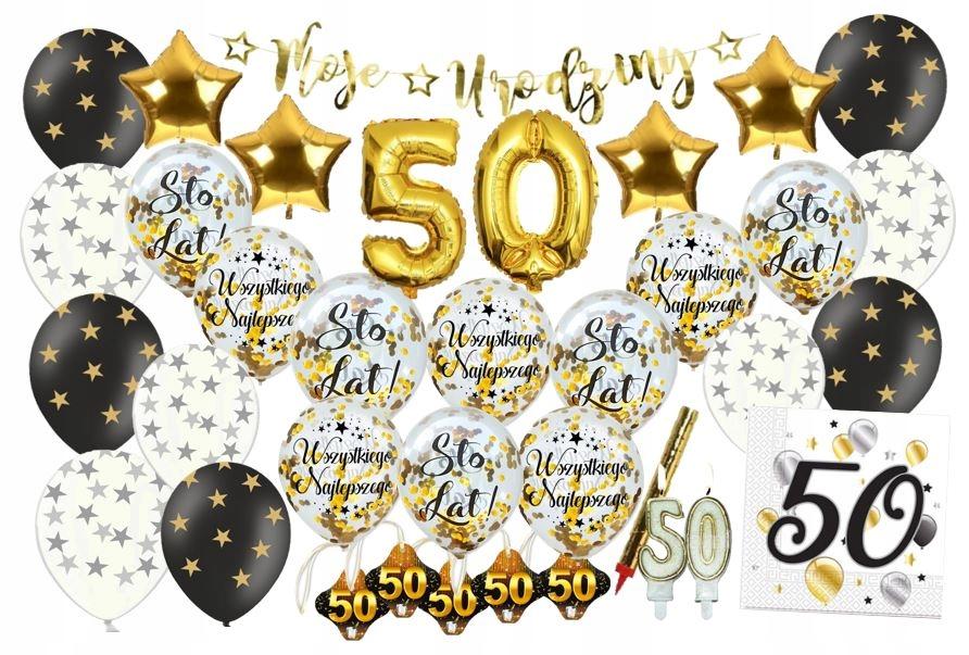 ZESTAW URODZINOWY urodziny 18 30 40 50 60 balony