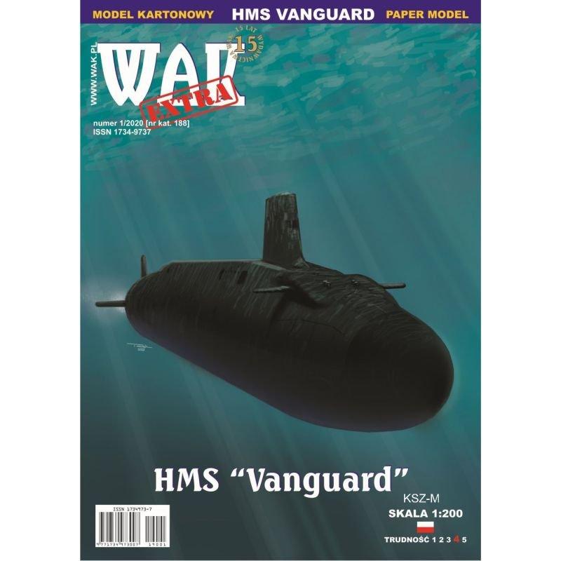 WAK 1/20 - Okręt podwodny HMS Vanguard 1:200