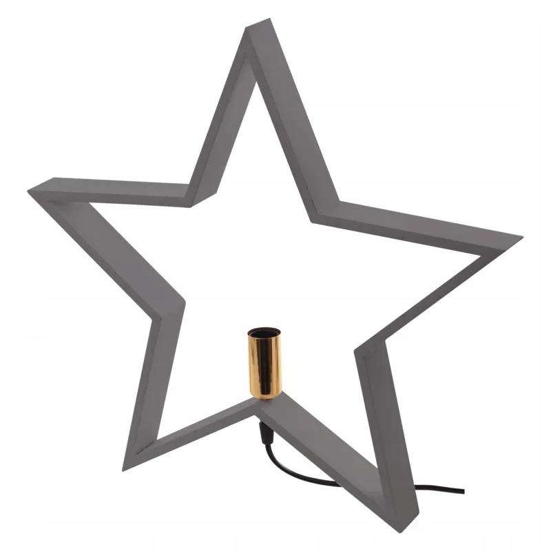 Hviezda na svietnik, na žiarovku E14, šedá ZY2216