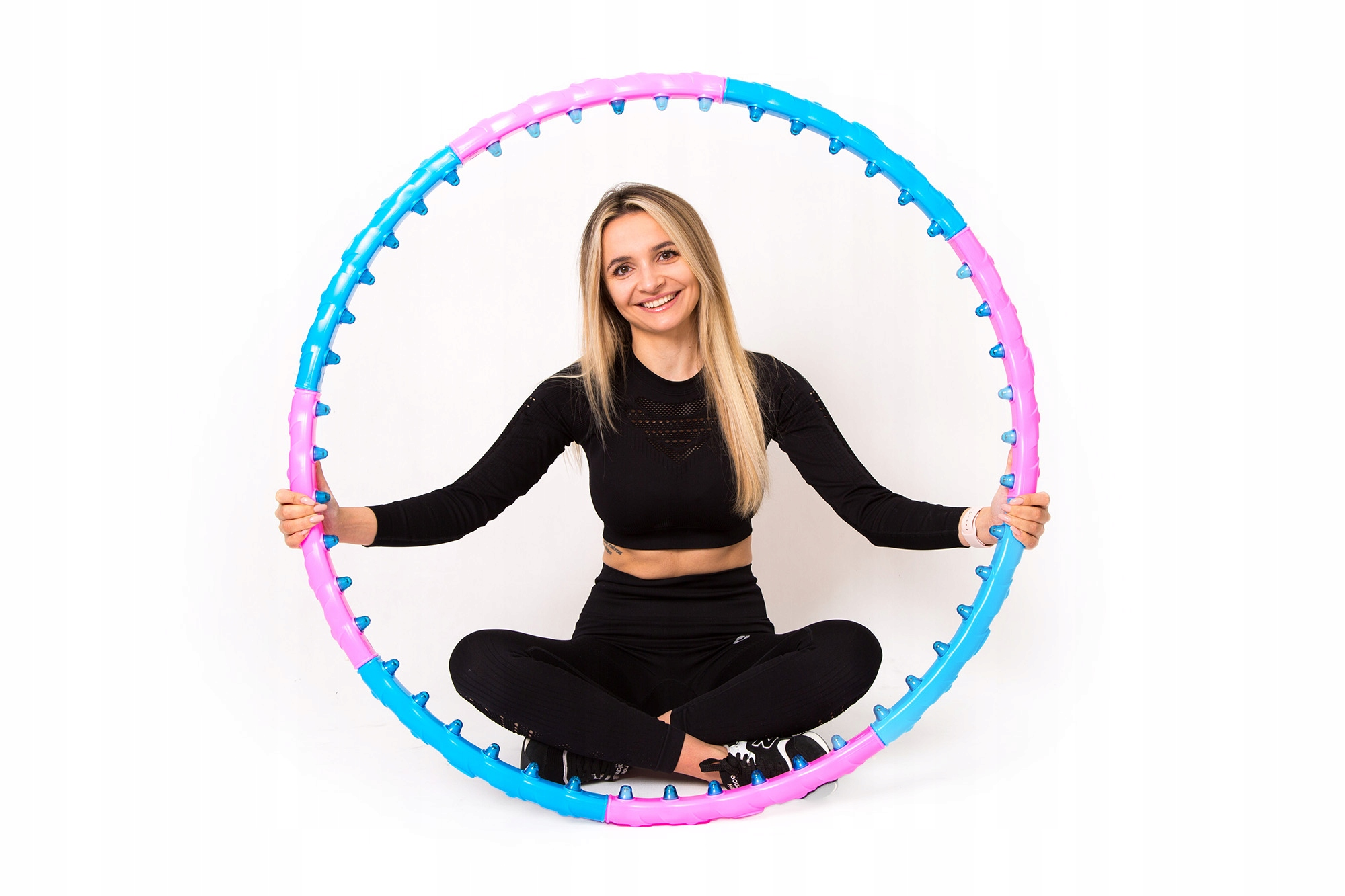 Odchudzające HulaHop Koło Składane Hula Hoop Masaż Rodzaj z wypustkami