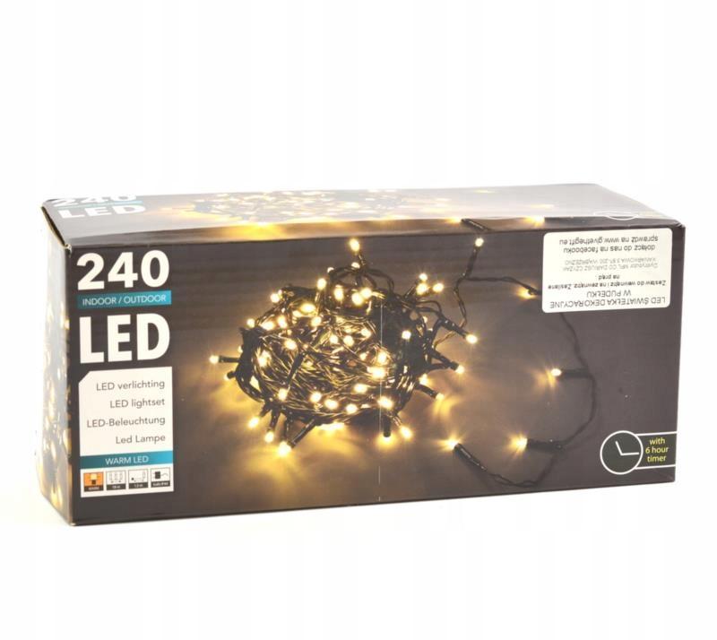 Svietidlá 240 LED biele 18m