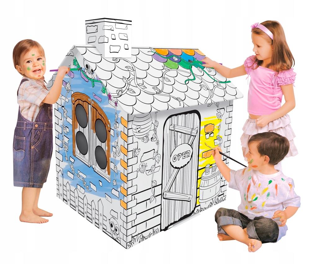Domek do malowania i złożenia Puzzle 3d i pisaki