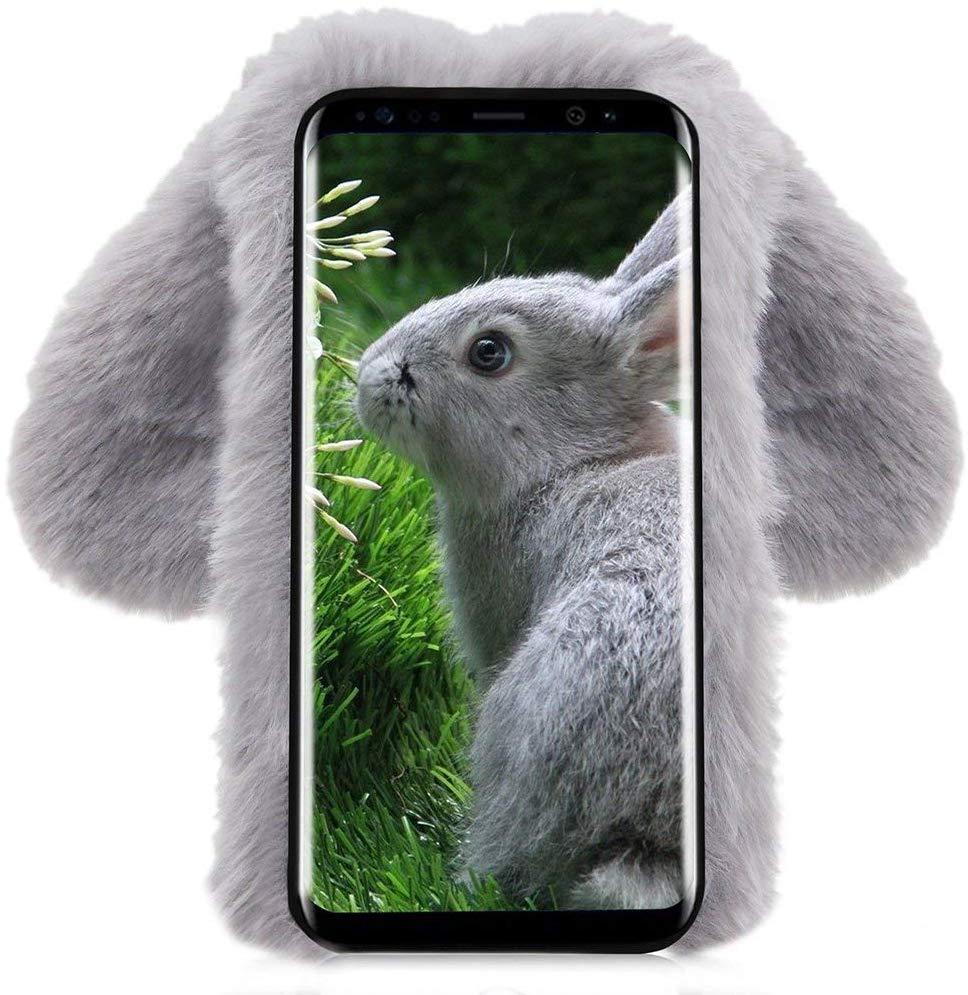 Etui do Samsung Galaxy M11 Pluszowe Królik + Szkło Dedykowany model Samsung Galaxy M11