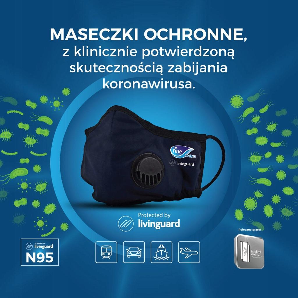 Купить Maseczka antywirusowa Fine Guard - rozmiar M на Otpravka - цены и фото - доставка из Польши и стран Европы в Украину.