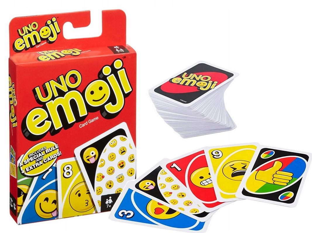 ИГРОВЫЕ КАРТЫ УНО EMOJI EMOTES  Mattel  DYC15