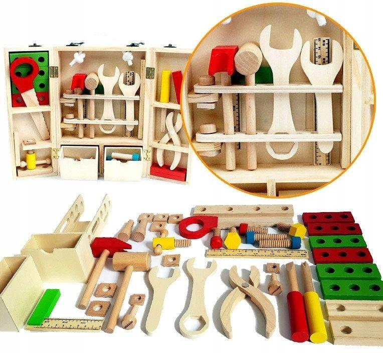 Drevené NÁRADIE + BOX pre deti WORKSHOP