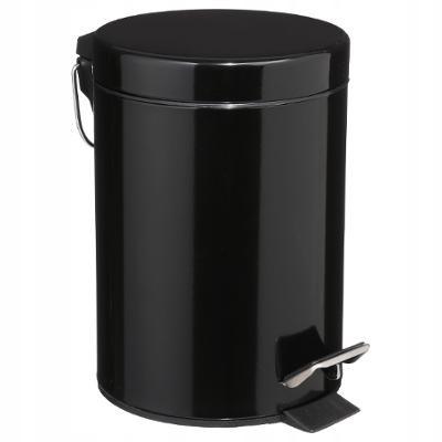 Odpadkový kôš do kúpeľne kovový čierny 3