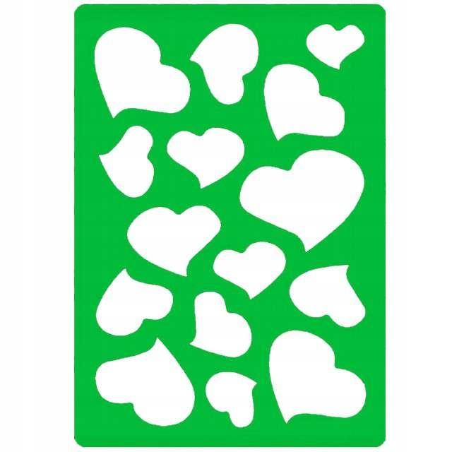 Dekoratívne plastové šablóny. Vzory srdca