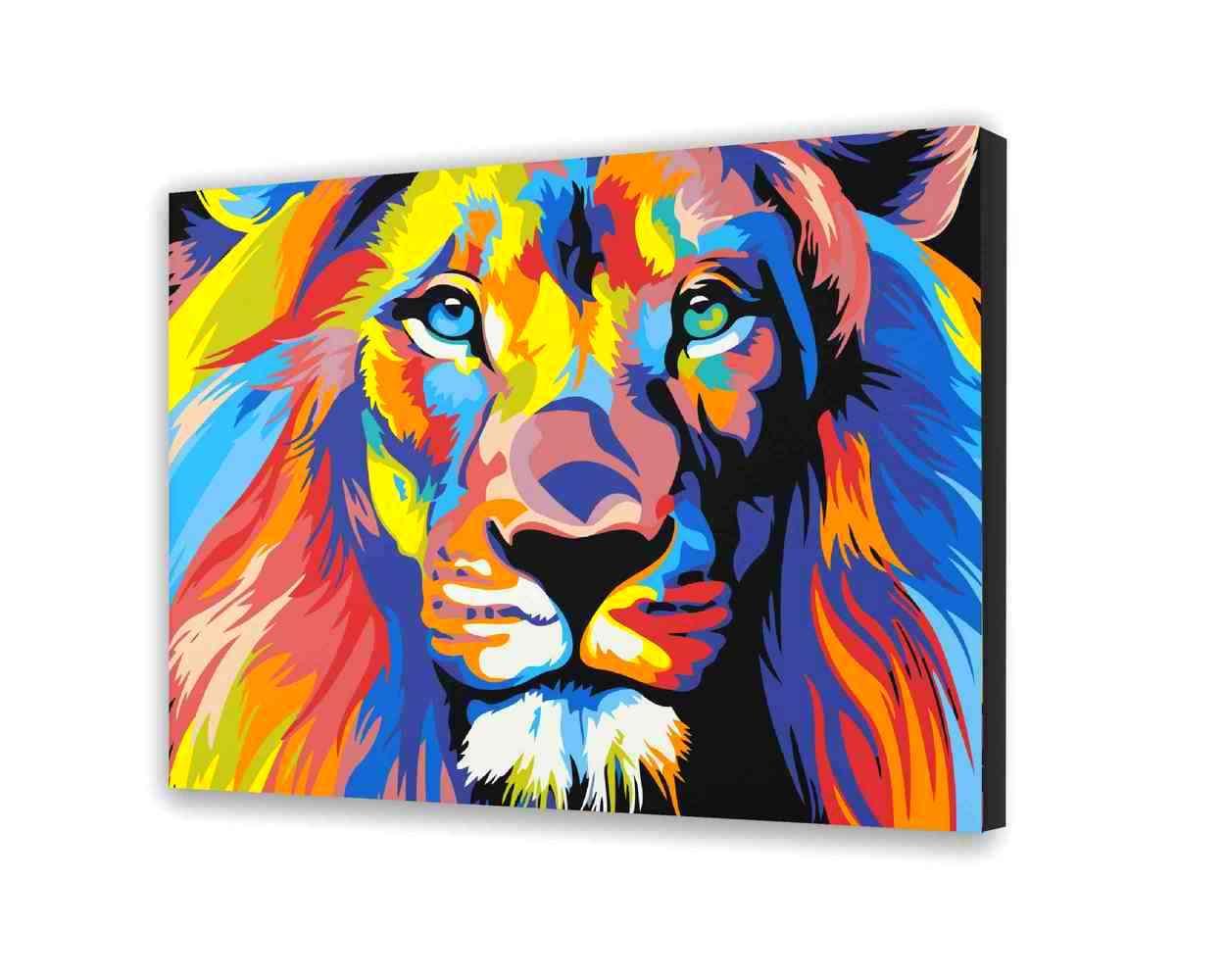 Lion Obraz do malowania po numerach 40x50