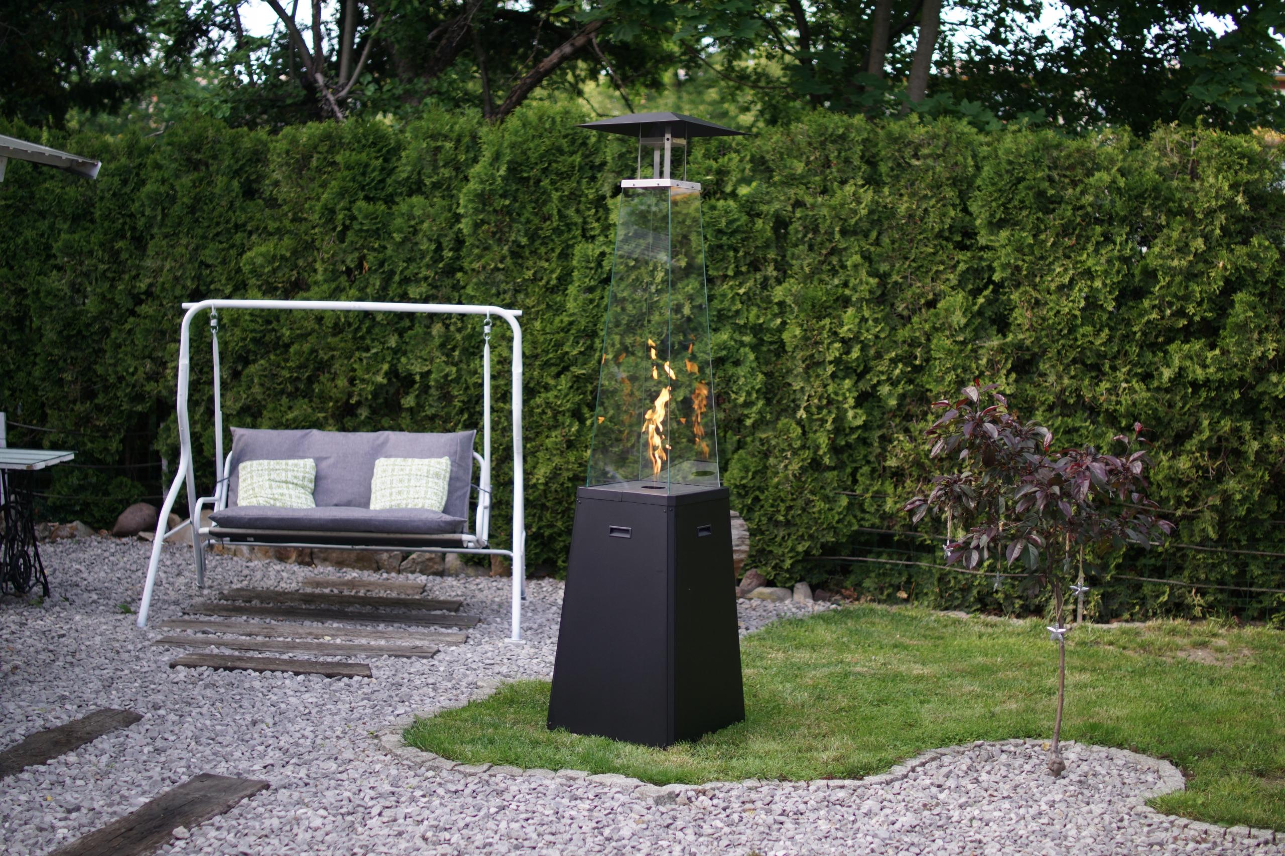 plynový ohrievač vykurovací dáždnik čierny UMBRELLA EAN 5903751050278