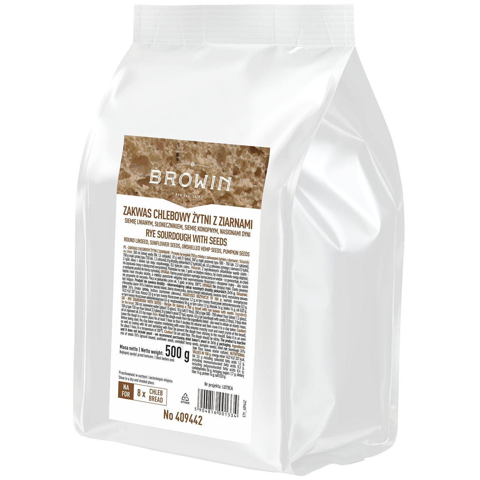 Закваска ржаная с зернами 500г БРАУН