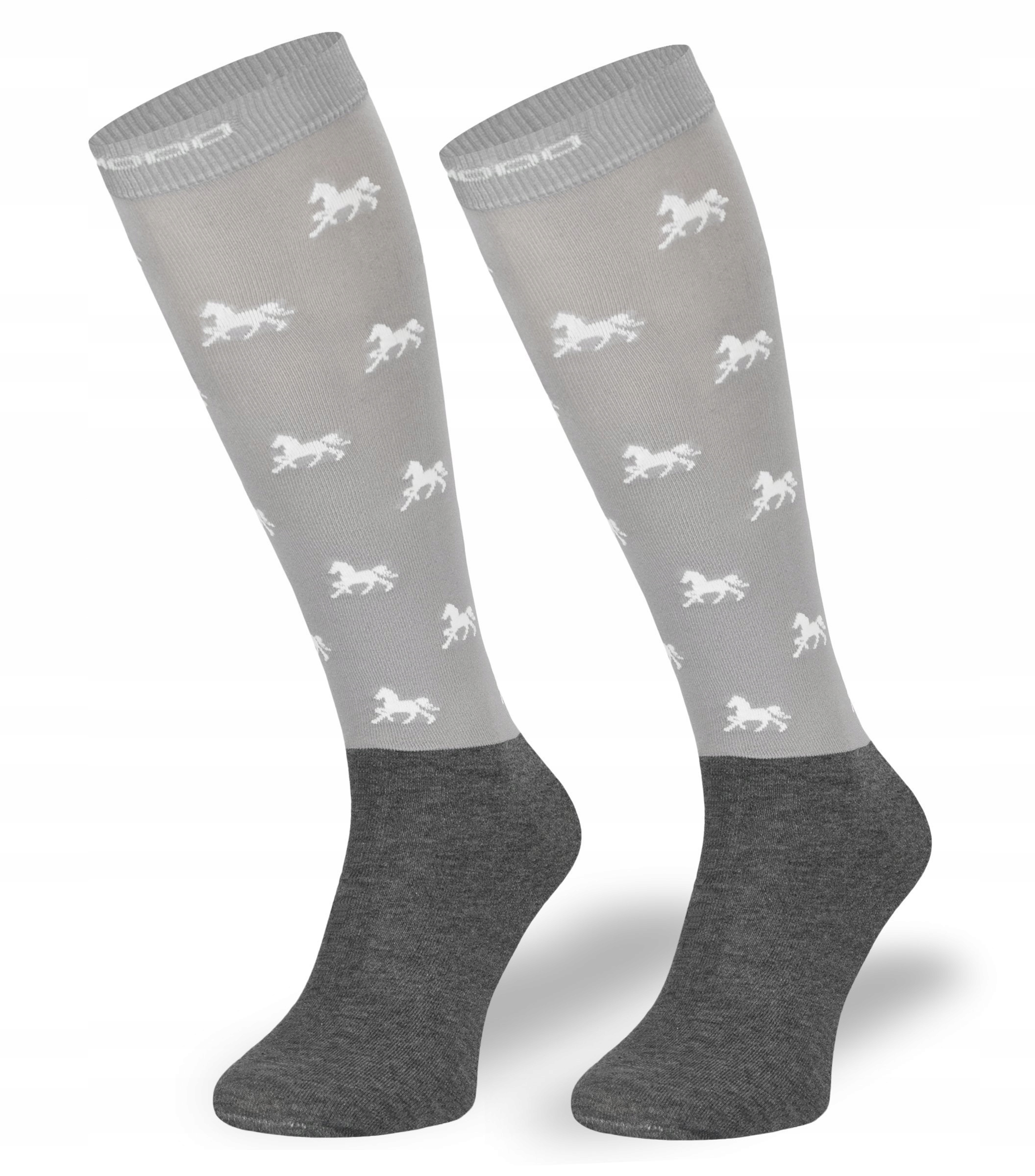 Комфортные серые детские носки для верховой езды