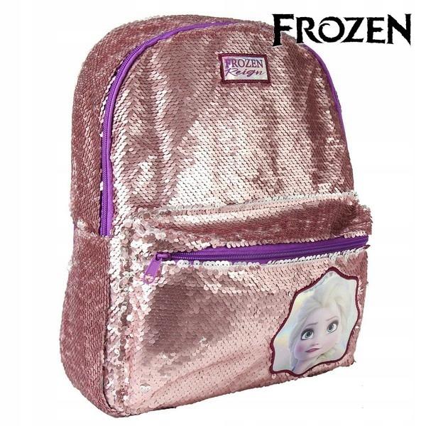 Školský batoh Frozen Sequins strieborná ružová