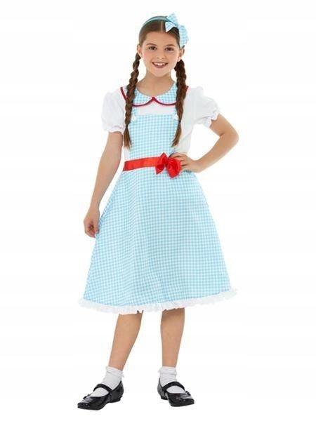 Modré šaty s retro mašľou pletené 128