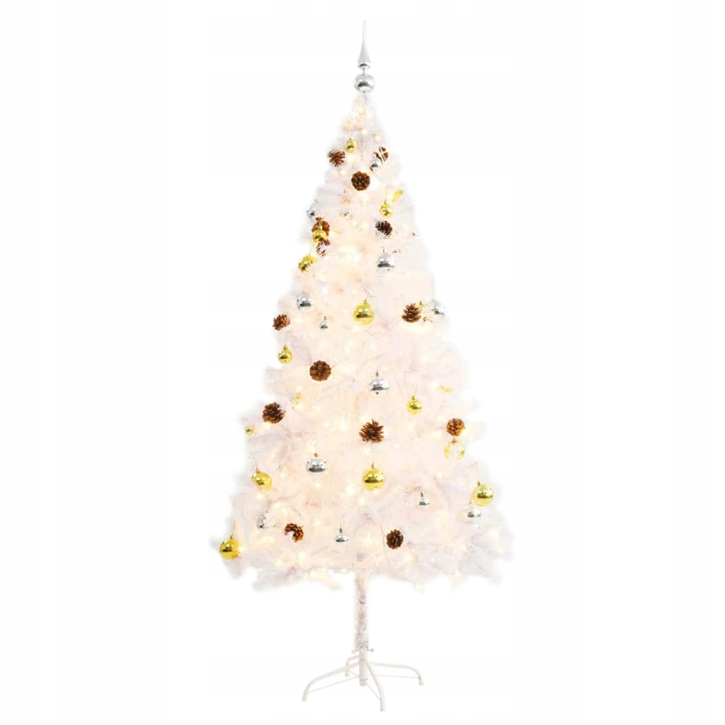 Umelý vianočný stromček zdobený ozdôbkami a svetlami, 18