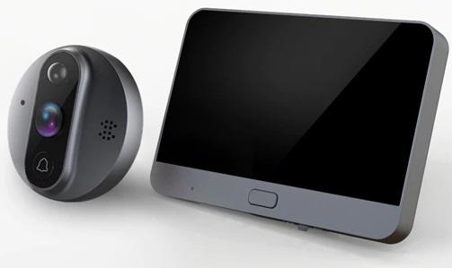Wizjer Video do drzwi 5TECH WiFi Aplikacja Tuya Rodzaj elektroniczny