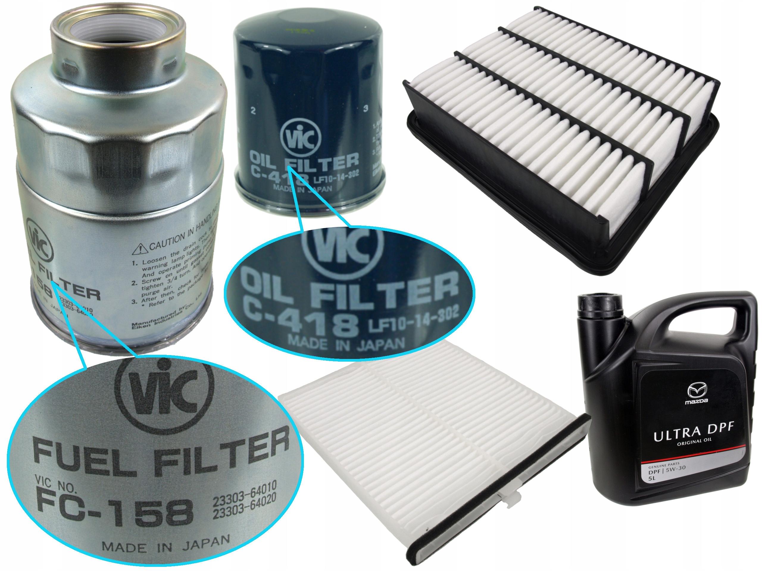 комплект комплект фильтры mazda 6 iii gj gl dpf 5w-30