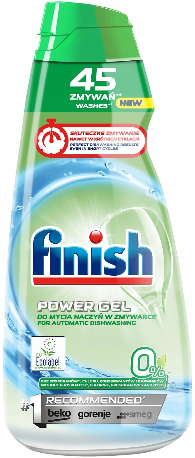 Finish All-in-1 MAX Żel Zmywarki 900ml 45 Zero 0%
