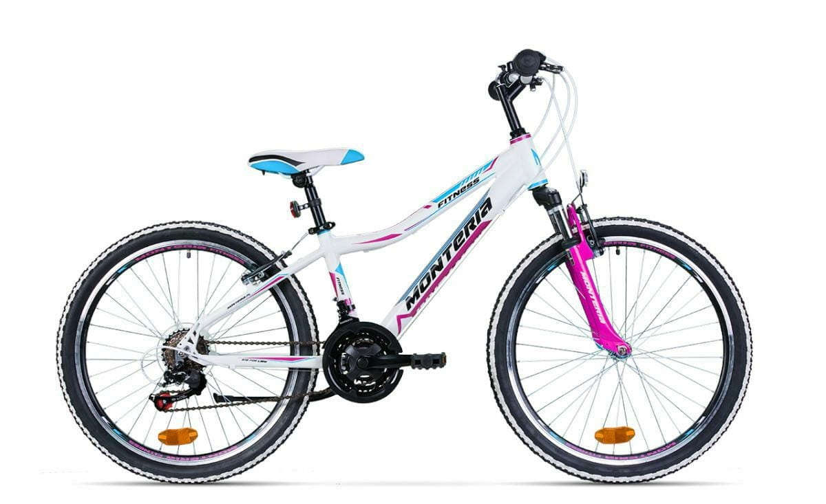 Horský bicykel MTB 24 Fitness - r 13. White/Pink/N