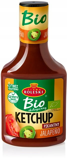 Roleski Bio Ketchup Jalapeno Spicy 340 г