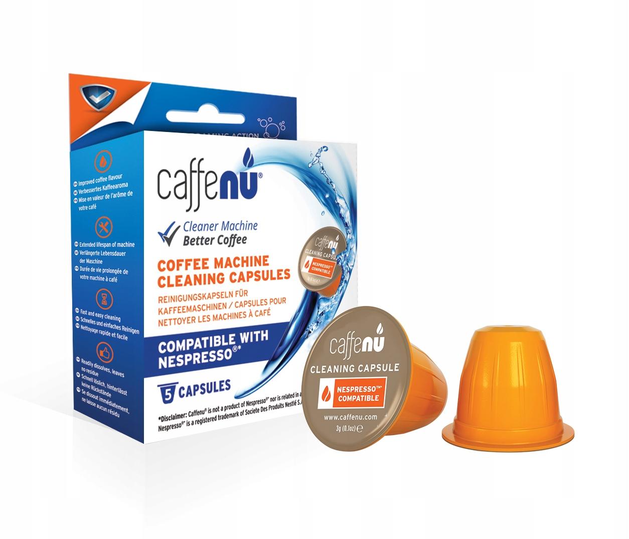 CaffeNu-kapsułki czyszczące do Nespresso (5 sztuk)