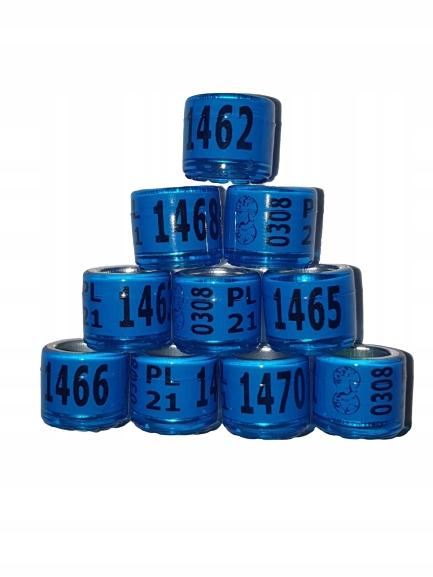 Обручальные кольца для почтовых голубей диам.8 мм 2021 г.