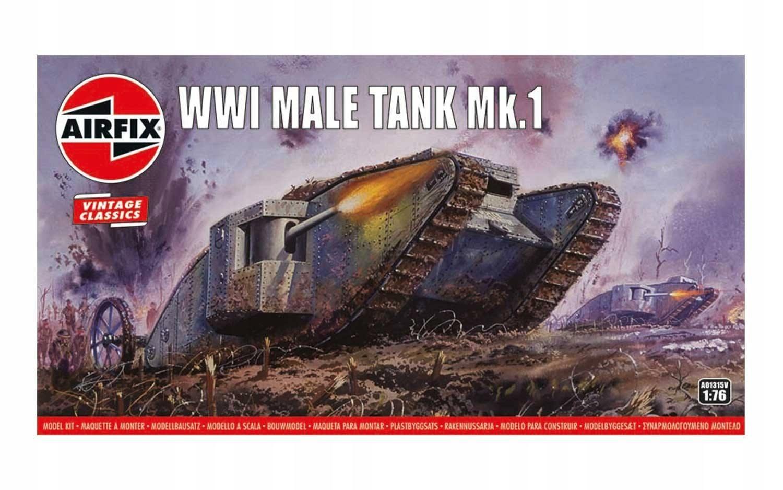 Купить Танк первой мировой войны Mk Male.И модель для склеивания Airfix на Otpravka - цены и фото - доставка из Польши и стран Европы в Украину.