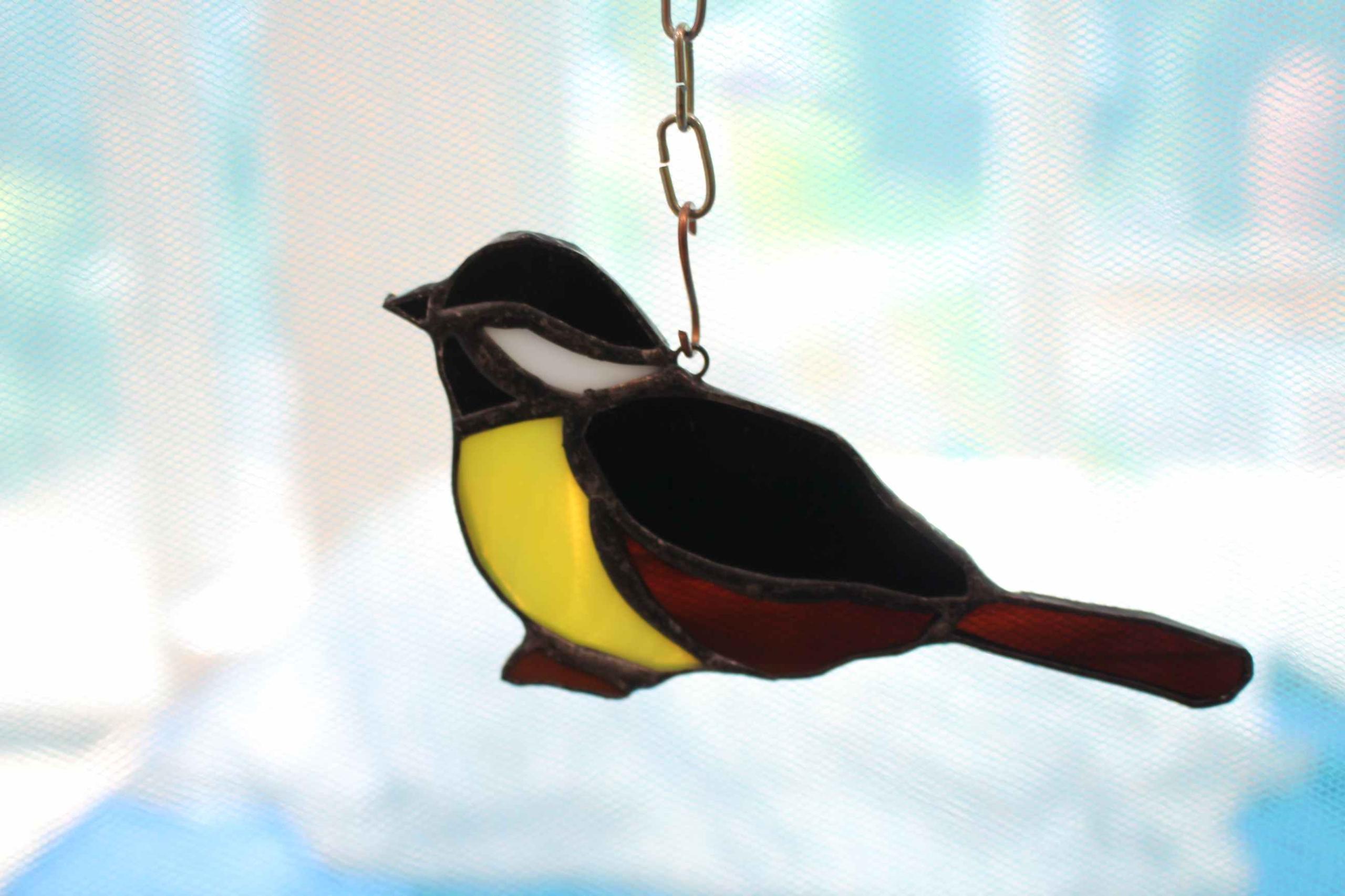 Синица витражи Тиффани украшения Polish Birds Bird