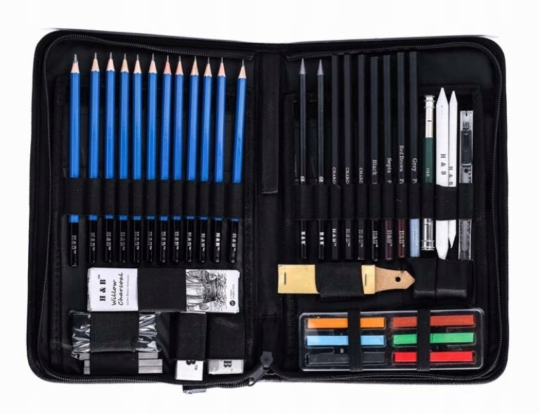 Item PROFESSIONAL SET FOR SKETCHING DRAWING 48w1