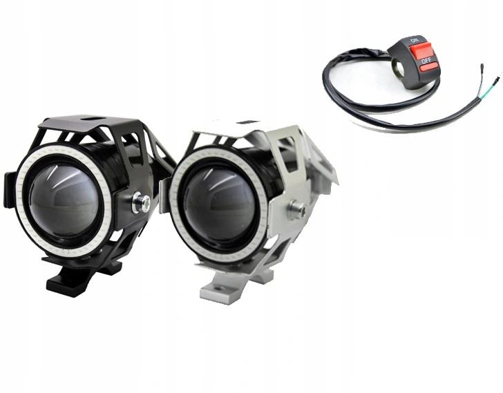 Halogeny motocyklowe RING LED lampy reflektory U7