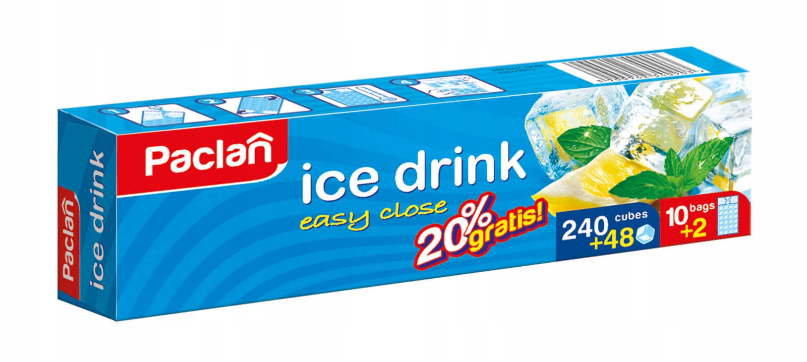 Самообесходивания мешков со льдом 288 кубиков PACLAN