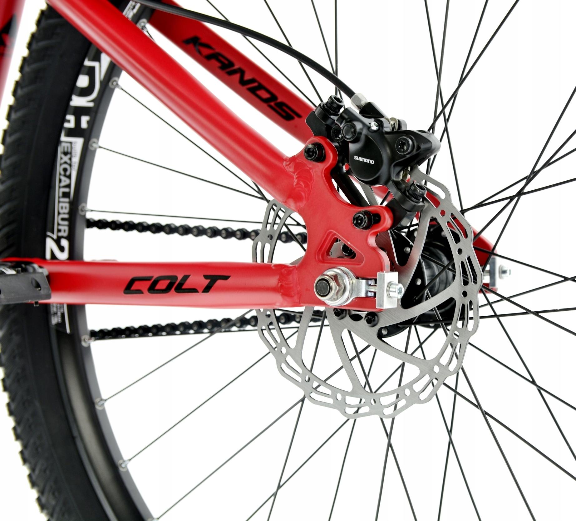 Rower Kands 26 DIRT COLT V2 13 CZERWONY R21 Korba jednorzędowa