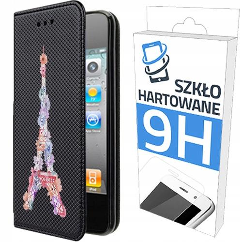 150wzorów Etui Z Klapką+szkło do Apple Iphone 4/4S